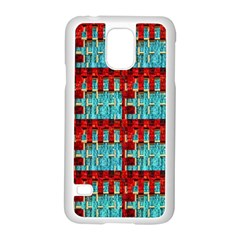 Architectural Abstract Pattern Samsung Galaxy S5 Case (White)