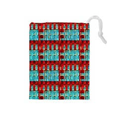 Architectural Abstract Pattern Drawstring Pouches (Medium)