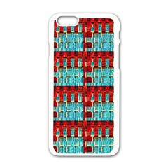 Architectural Abstract Pattern Apple iPhone 6/6S White Enamel Case