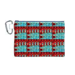 Architectural Abstract Pattern Canvas Cosmetic Bag (M)