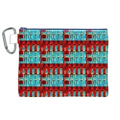 Architectural Abstract Pattern Canvas Cosmetic Bag (XL)