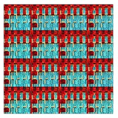 Architectural Abstract Pattern Large Satin Scarf (Square)