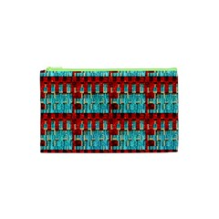 Architectural Abstract Pattern Cosmetic Bag (XS)
