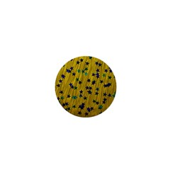 Abstract Gold Background With Blue Stars 1  Mini Magnets