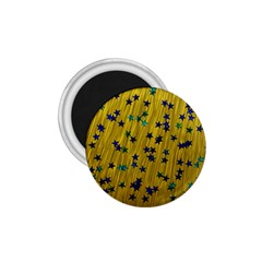 Abstract Gold Background With Blue Stars 1 75  Magnets