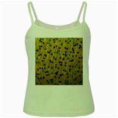 Abstract Gold Background With Blue Stars Green Spaghetti Tank