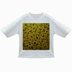 Abstract Gold Background With Blue Stars Infant/toddler T Shirts