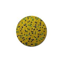 Abstract Gold Background With Blue Stars Golf Ball Marker (10 pack)