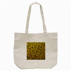 Abstract Gold Background With Blue Stars Tote Bag (Cream)