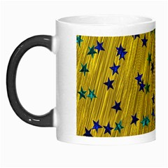 Abstract Gold Background With Blue Stars Morph Mugs
