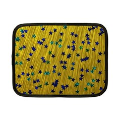 Abstract Gold Background With Blue Stars Netbook Case (small)