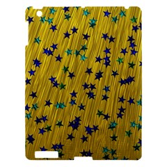 Abstract Gold Background With Blue Stars Apple iPad 3/4 Hardshell Case