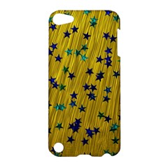 Abstract Gold Background With Blue Stars Apple iPod Touch 5 Hardshell Case