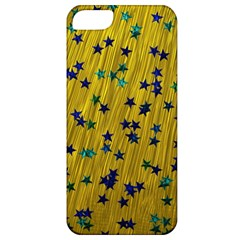 Abstract Gold Background With Blue Stars Apple iPhone 5 Classic Hardshell Case