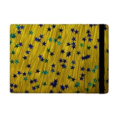 Abstract Gold Background With Blue Stars Apple iPad Mini Flip Case