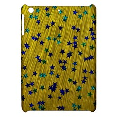 Abstract Gold Background With Blue Stars Apple iPad Mini Hardshell Case