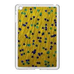 Abstract Gold Background With Blue Stars Apple iPad Mini Case (White)