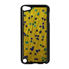 Abstract Gold Background With Blue Stars Apple Ipod Touch 5 Case (black)