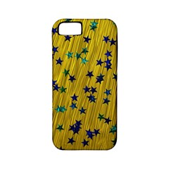 Abstract Gold Background With Blue Stars Apple iPhone 5 Classic Hardshell Case (PC+Silicone)