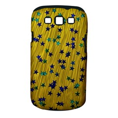 Abstract Gold Background With Blue Stars Samsung Galaxy S III Classic Hardshell Case (PC+Silicone)