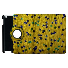 Abstract Gold Background With Blue Stars Apple iPad 3/4 Flip 360 Case