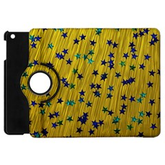 Abstract Gold Background With Blue Stars Apple iPad Mini Flip 360 Case
