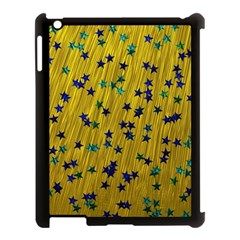 Abstract Gold Background With Blue Stars Apple iPad 3/4 Case (Black)