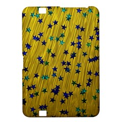Abstract Gold Background With Blue Stars Kindle Fire HD 8.9