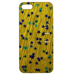 Abstract Gold Background With Blue Stars Apple iPhone 5 Hardshell Case with Stand