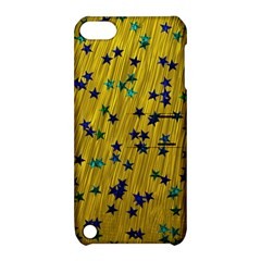 Abstract Gold Background With Blue Stars Apple iPod Touch 5 Hardshell Case with Stand