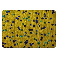 Abstract Gold Background With Blue Stars Samsung Galaxy Tab 8 9  P7300 Flip Case