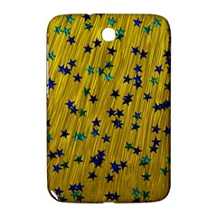 Abstract Gold Background With Blue Stars Samsung Galaxy Note 8.0 N5100 Hardshell Case