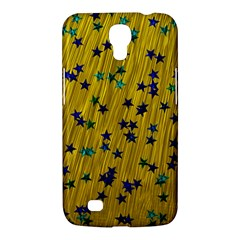 Abstract Gold Background With Blue Stars Samsung Galaxy Mega 6.3  I9200 Hardshell Case