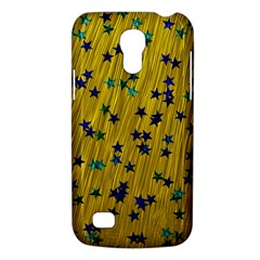 Abstract Gold Background With Blue Stars Galaxy S4 Mini
