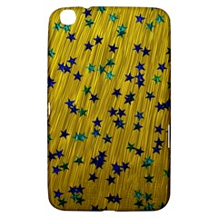 Abstract Gold Background With Blue Stars Samsung Galaxy Tab 3 (8 ) T3100 Hardshell Case