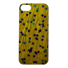 Abstract Gold Background With Blue Stars Apple iPhone 5S/ SE Hardshell Case