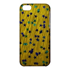 Abstract Gold Background With Blue Stars Apple iPhone 5C Hardshell Case