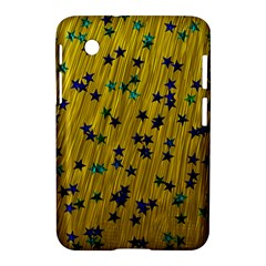 Abstract Gold Background With Blue Stars Samsung Galaxy Tab 2 (7 ) P3100 Hardshell Case