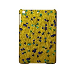 Abstract Gold Background With Blue Stars iPad Mini 2 Hardshell Cases