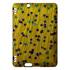 Abstract Gold Background With Blue Stars Kindle Fire HDX Hardshell Case