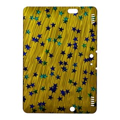 Abstract Gold Background With Blue Stars Kindle Fire HDX 8.9  Hardshell Case