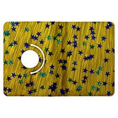 Abstract Gold Background With Blue Stars Kindle Fire HDX Flip 360 Case