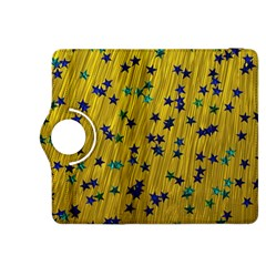 Abstract Gold Background With Blue Stars Kindle Fire HDX 8.9  Flip 360 Case