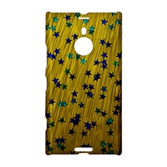 Abstract Gold Background With Blue Stars Nokia Lumia 1520