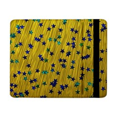 Abstract Gold Background With Blue Stars Samsung Galaxy Tab Pro 8.4  Flip Case