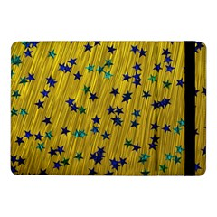 Abstract Gold Background With Blue Stars Samsung Galaxy Tab Pro 10.1  Flip Case
