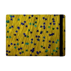 Abstract Gold Background With Blue Stars iPad Mini 2 Flip Cases