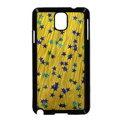Abstract Gold Background With Blue Stars Samsung Galaxy Note 3 Neo Hardshell Case (black)
