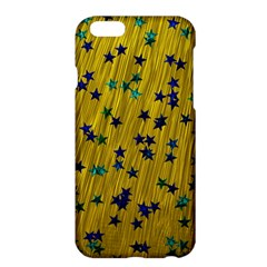 Abstract Gold Background With Blue Stars Apple iPhone 6 Plus/6S Plus Hardshell Case
