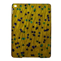 Abstract Gold Background With Blue Stars iPad Air 2 Hardshell Cases